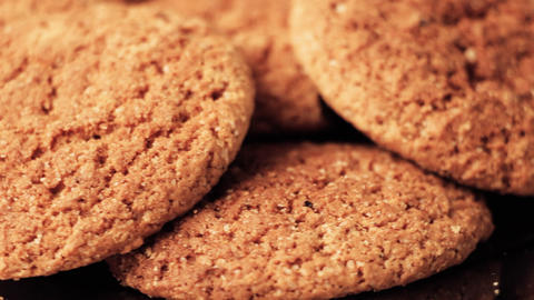 Oatmeal cookies rotate Footage