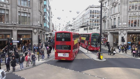 Typical London street view - LONDON, ENGLAND Live Action