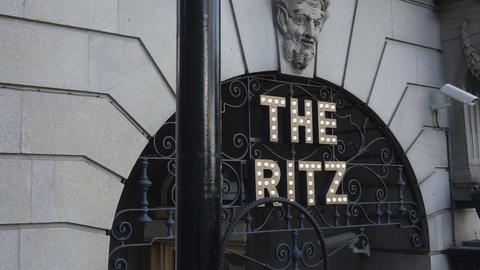 Famous Ritz Hotel in London - LONDON, ENGLAND Live Action