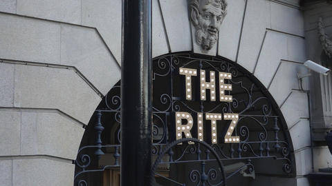 Famous Ritz Hotel in London - LONDON, ENGLAND Stock Video Footage