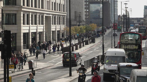 London street traffic - LONDON, ENGLAND Footage
