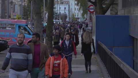 People walking through London - LONDON, ENGLAND Live Action