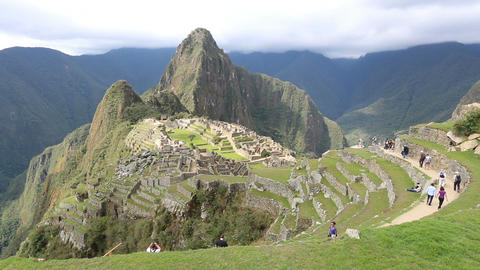 Machu Picchu overview Footage