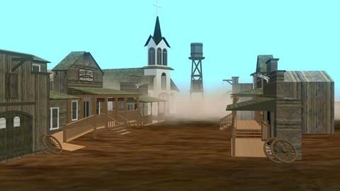 Ghost Town During Sand Storm (Version #2) Animation