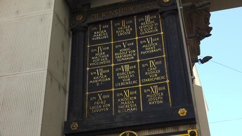 Memorial plaque with the names of historical figures. Vienna, Austria. 4K Footage