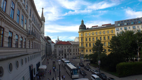 Vienna. Old Wien. Architecture, old houses, streets and neighborhoods. Austria. Live Action