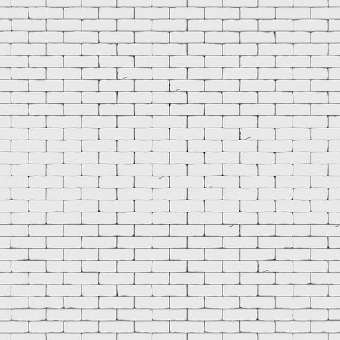 White brick wall 3D render フォト