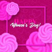 Womens day vector greeting card with roses Vector