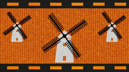 Decorative multicolor video with three windmills Animación