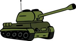 hand drawn green tank Vector