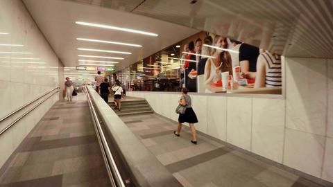 Metro Vienna. Going underground. Austria. 4K Acción en vivo