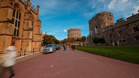 Windsor Castle, Berkshire, England UK Live Action
