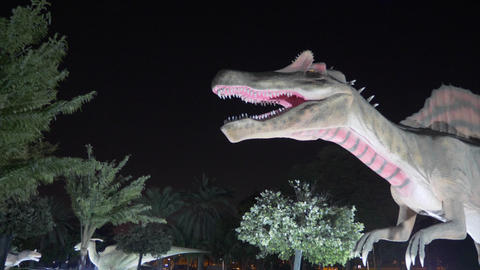 Dubai, UAE - January 13, 2018: frightening figure predatory Spinosaurus dinosaur Image