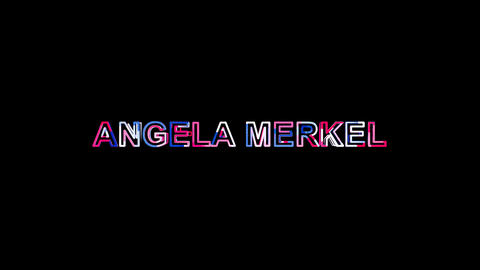 Letters are collected in Person of the World Politics ANGELA MERKEL, then Animation