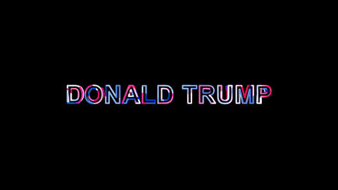 Letters are collected in Person of the World Politics DONALD TRUMP, then Animation