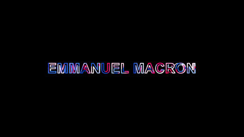 Letters are collected in Person of the World Politics EMMANUEL MACRON, then Animation