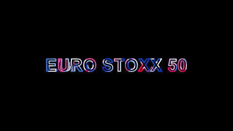 Letters are collected in World stock index EURO STOXX 50, then scattered into Animation