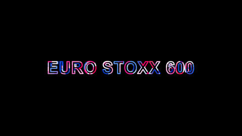Letters are collected in World stock index EURO STOXX 600, then scattered into Animation