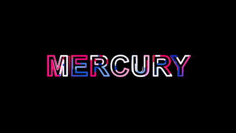 Letters are collected in Element of periodic table MERCURY, then scattered into Animation