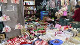 Traditional Taiwanese grocery shop Taipei Taiwan Footage