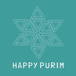Purim holiday flat design white thin line icons of hamantashs in ベクター