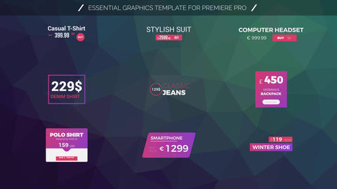 Price Titles Motion Graphics Template