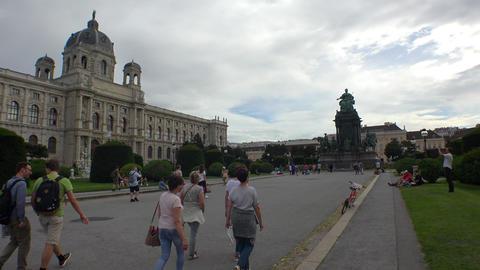 Vein. Vienna. Wien. Maria-Theresien-Platz. Austria. 4K Footage