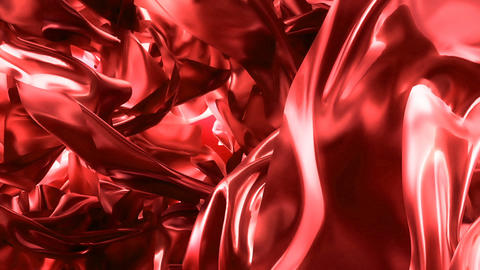 Beautiful abstraction of red glowing cloth. Animation of seamless loop Animación