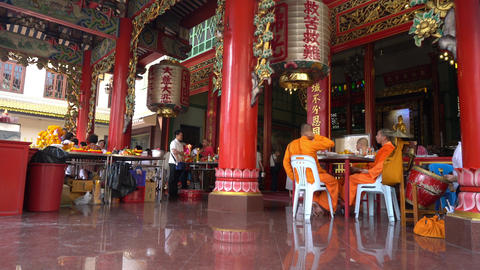 Chinese temple at Chinatown in Bangkok GIF