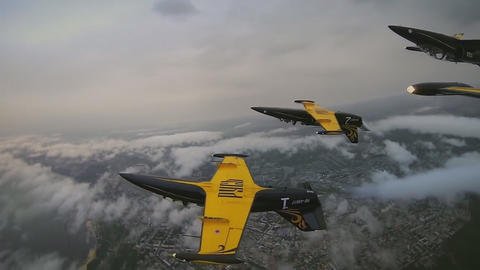"aerobatic team ""Rus"" aircraft L-39 Footage"