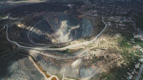 large diamond mine in Siberia Live Action