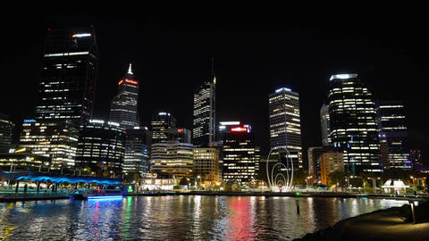 Cityscape of Perth, Western Australia Live Action
