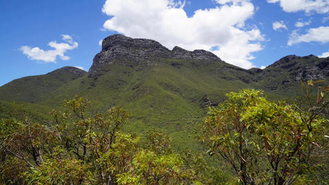 Clouds over peak of Bluff Knoll, Western Australia Footage