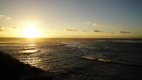 Sunset over Pacific Ocean, Australia Footage