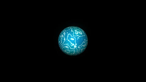 Plasma ball isolated on black background. 3d rendering background 画像