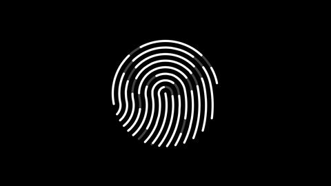 animation of scanning fingerprint Animation