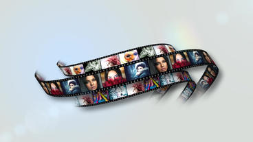 Film Strip Logo After Effects Template