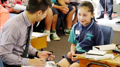 Auckland New Zealand 11th of March 2016 Opticians checking the eye sight of Image