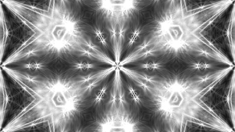 Abstract white kaleidoscope. 3d rendering digital background Photo