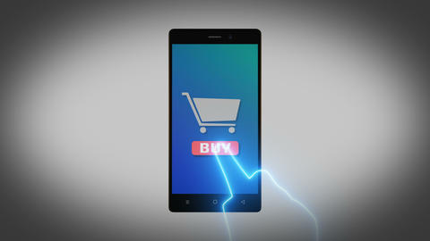 Phone favourite buy shop commerce cart 4K white Animation