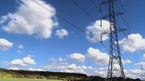 view of the sky and power lines (time-lapse) Footage