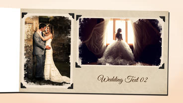 Watercolor Wedding Album After Effects Template