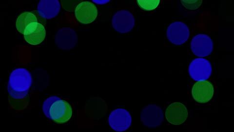Multicolor festive lights bokeh background Image