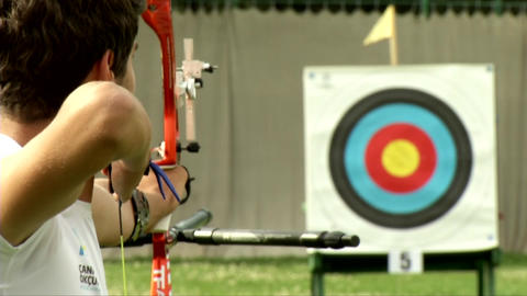Archery Bow Arrow Target From High Definition Live Action