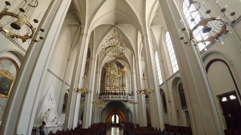 Interior of a Christian church. Vienna, Austria. 4K Image