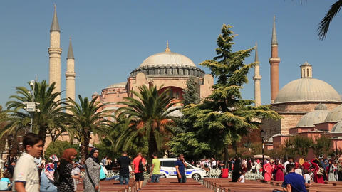 Hagia Sophia Church In Istanbul. Hagia Sophia Museum In Istanbul ビデオ