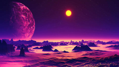 On an Alien Planet is Dawning Animation