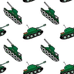hand drawn green tank ベクター