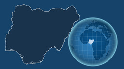 Nigeria and Globe. Solids Animation