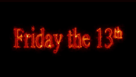 Friday the 13th fiery Loopable Video Animation